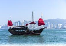 Junkboat in Hong Kong Stock Photos