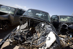 Junked cars for recycling Royalty Free Stock Photography