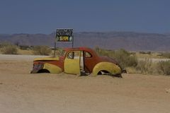 Junked vehicle, Solitaire, Namibia Stock Photo