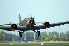 Junkers JU 52 - no aniversário de Comina 100 do La Fotografia de Stock Royalty Free