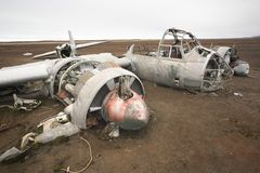 Junkers JU-88 airplane wreck, World War II Stock Photography