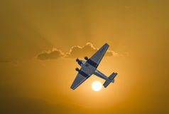 Junkers Ju52 D-AQUI  flights over the Taunus region Stock Images