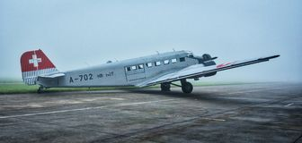 Junkers JU-52. German transport airplane built since 1939 Stock Photos