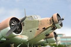 Junkers Ju 52 transport airplane Stock Photography