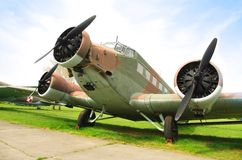 Junkers Ju 52 transport airplane Royalty Free Stock Images