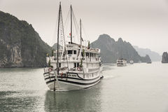 Junks on Halong Bay Stock Images