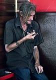 Junky drug addict man Stock Photo