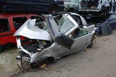 Junkyard broken car Royalty Free Stock Images