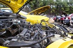 Junkyard cars Royalty Free Stock Image