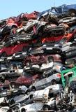 Junkyard de los coches Imagen de archivo libre de regalías