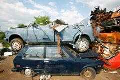 Junkyard dell'automobile immagini stock