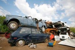 Junkyard dell'automobile fotografie stock libere da diritti