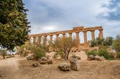 Juno świątynia w Agrigento Zdjęcie Royalty Free