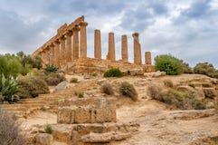 Juno świątynia w Agrigento Obrazy Stock