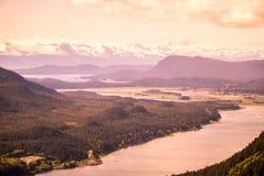 Juno, Alaska. Panoramic of the horizon in Juno Alaska royalty free stock images