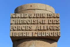 Monument Juno Beach. The Juno Beach Monument in Normandy, France stock images