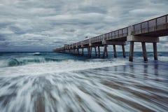 Juno Beach Park Pier Image stock