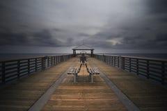 Juno Beach Pier. Long exposure - Juno Beach, Florida stock photos
