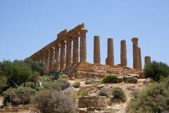 寺庙Juno Lacinia阿哥里根托2 库存照片