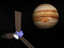 Juno spacecraft near Jupiter - 3D render Stock Photography