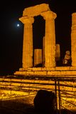Juno Temple in archäologischem Park Agrigents Stockbild