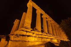 Juno Temple en el parque arqueológico de Agrigento Imagen de archivo