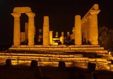 Juno Temple i arkeologiska Agrigento parkerar Royaltyfria Foton