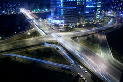 Junção transversal na noite Imagem de Stock Royalty Free