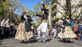 Junta a bailarines en Valencia, España Fotografía de archivo