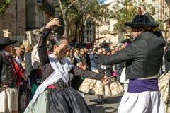 Junta a bailarines en Valencia, España Foto de archivo libre de regalías