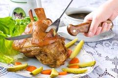 Junta da carne de porco Fotos de Stock Royalty Free