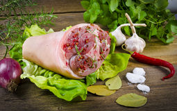 Junta da carne de porco Imagem de Stock