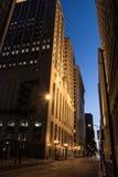 Junta de comercio de Chicago en la noche Fotografía de archivo