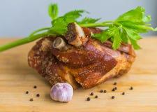 Junta e alho alemães da carne de porco Fotos de Stock Royalty Free