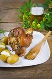 Junta e cerveja da carne de porco Imagens de Stock Royalty Free