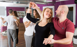 Junta el goce de la danza del socio Imágenes de archivo libres de regalías