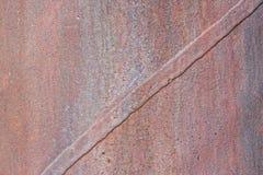 Junta oxidada de la placa de metal del tubo Imagen de archivo libre de regalías