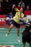 Juntamento superior Palyama do jogador do Badminton Fotografia de Stock
