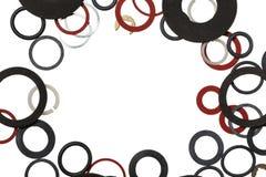 Juntas de goma redondas Foto de archivo libre de regalías