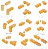 Juntas de madera stock de ilustración