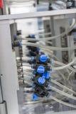 Juntas del cable y presión de sistema de control Fotografía de archivo