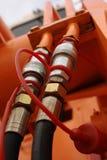 Juntas hidráulicas. Fotos de archivo libres de regalías