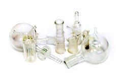 Juntas vidriosas químicas, tubos. Fotos de archivo