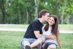 Junte besarse Imagen de archivo libre de regalías