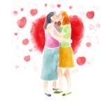 Junte besarse Imágenes de archivo libres de regalías