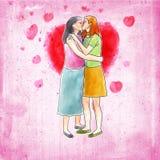 Junte besarse Foto de archivo libre de regalías