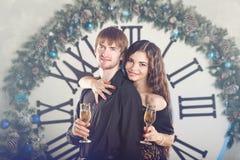 Junte el abrazo Navidad Imagen de archivo