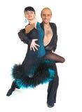 Junte el estilo de Latina de los bailarines Imagen de archivo