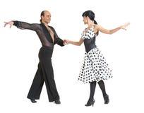 Junte el estilo de Latina de los bailarines Foto de archivo