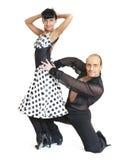 Junte el estilo de Latina de los bailarines Fotografía de archivo